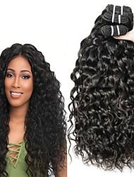 Недорогие -3 Связки Бразильские волосы Евро-Азиатские волосы Волнистые 8A Натуральные волосы Необработанные натуральные волосы Подарки Косплей Костюмы Головные уборы 8-28 дюймовый Естественный цвет