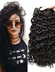 Недорогие -4 Связки Малазийские волосы Волнистые Натуральные волосы Человека ткет Волосы Пучок волос One Pack Solution 8-28 дюймовый Нейтральный Естественный цвет Ткет человеческих волос / 8A