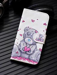 Недорогие -Кейс для Назначение Huawei P20 Pro / P20 lite Кошелек / Бумажник для карт / со стендом Чехол С сердцем / Животное Твердый Кожа PU для Huawei P20 / Huawei P20 Pro / Huawei P20 lite