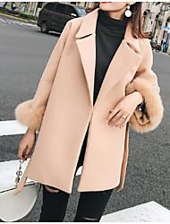 billige -kvinder går ud slank jakke - solidfarvet