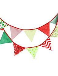 Недорогие -Новогодние флажки Праздник Ткань / пластик Квадратный Оригинальные Рождественские украшения
