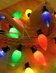 Недорогие -3M Гирлянды 20 светодиоды Тёплый белый Работает от солнечной энергии / Декоративная Солнечная энергия 1 комплект