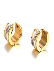 ieftine -Bărbați Auriu Auriu Clasic Cercei - Oțel titan Modă Auriu / Argintiu Pentru Cadou Zilnic