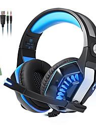 abordables -KOTION EACH GM-2 Bandeau Câblé Ecouteurs Ecouteur / Casque résine ABS Jeux Écouteur Avec Microphone / Avec contrôle du volume Casque