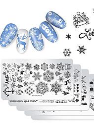 abordables -5pcs Kit de forage Nail Art Economique / Multi Fonction / Meilleure qualité Séries de totem Manucure Manucure pédicure Acier inoxydable Branché / Mode Noël / Festival