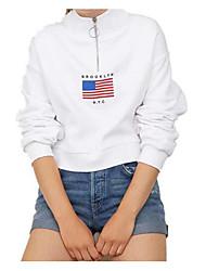 billige -Dame Aktiv Sweatshirt - Geometrisk