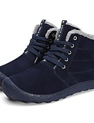 Недорогие -Муж. Комфортная обувь Свиная кожа Зима На каждый день Ботинки Сохраняет тепло Черный / Темно-синий / Серый