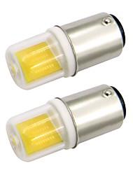 Недорогие -2.5w ba15d мини светодиодный колпачок стеклянной крышкой 1511 cob ac 220v / ac 120v холодный / теплый белый двойной байонетный швейный станок (2 шт)