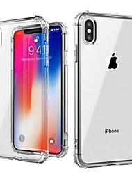Недорогие -Кейс для Назначение Apple iPhone XS / iPhone XS Max Защита от удара / Прозрачный Кейс на заднюю панель Однотонный Мягкий ТПУ для iPhone XS / iPhone XR / iPhone XS Max