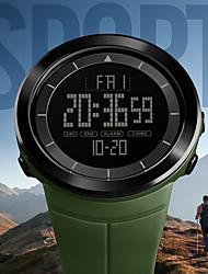 Недорогие -SKMEI Муж. Для пары электронные часы Цифровой Стеганная ПУ кожа Черный / Синий / Красный 50 m Защита от влаги Календарь Хронометр Цифровой Аналого-цифровые На каждый день Мода - Зеленый Синий Хаки
