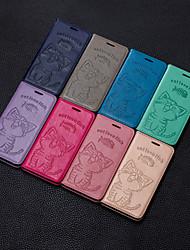 olcso -Case Kompatibilitás Apple iPhone XS / iPhone XS Max Pénztárca / Kártyatartó / Állvánnyal Fekete tok Egyszínű / Cica Kemény PU bőr mert iPhone XS / iPhone XR / iPhone XS Max