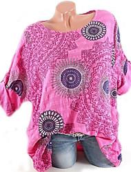 baratos -t-shirt solta de batwing de mulheres - gráfico em volta do pescoço