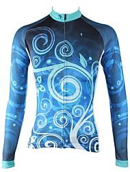 Недорогие -ILPALADINO Жен. Длинный рукав Велокофты - Темно-синий Мода Велоспорт Джерси Верхняя часть, Флисовая подкладка Сохраняет тепло Ультрафиолетовая устойчивость, Зима, Эластан