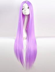 Недорогие -Парики из искусственных волос Естественный прямой Красный Средняя часть Фиолетовый Белый Синий Искусственные волосы 34 дюймовый Жен. Для вечеринок Красный / Черный Парик Очень длинный