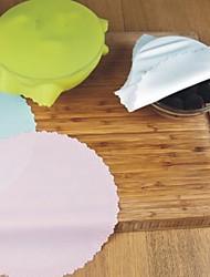 Недорогие -1шт силиконовая чаша крышки крышка холодильник консервирующая пленка многоразовая растяжимая упаковка для пищевых продуктов упаковка для кухни кухонная выпечка матовый инструмент случайный цвет