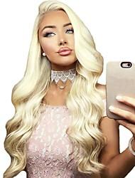 voordelige -Synthetische pruiken / Pruik Lace Front Synthetisch Haar Golvend / BodyGolf Blond Middelste stuk Blonde Synthetisch haar 24 inch(es) Dames Zacht / Verstelbaar / Hittebestendig Blond Pruik Lang / Ja