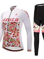 billiga Sport och friluftsliv-Miloto Cykeltröja och tights / Cykeljacka och byxa - Blå / Vit Cykel Håller värmen