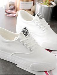 abordables -Femme Chaussures de confort Microfibre Automne Basket Talon Plat Blanc / Noir