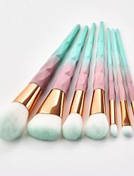 billiga -7 st Makeupborstar Professionell Rougeborste / Ögonskuggsborste / Läppensel Nylon fiber Fullständig Täckning