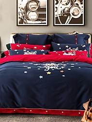 Недорогие -рождественские наборы для одеяла рождественские наборы геометрические хлопок жаккардовые реактивные печать 4 шт.