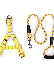 billiga -Hund Outfits / Selar / Koppel Tränare / Justerbar storlek / Löpning Enfärgad / Geometry Nylon Gul / Fuchsia / Blå