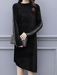 billige -kvinders slanke lille sorte kjole asymmetrisk