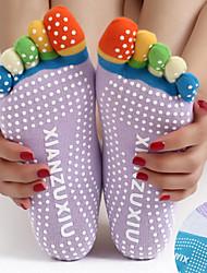 baratos -Mulheres Meias Antiderrapantes para Yoga / Meias de cinco dedos Anti-Derrapagem, Redutor de Suor, Antiderrapante Para Pilates / Bikram / Barra Primavera / Outono / Inverno