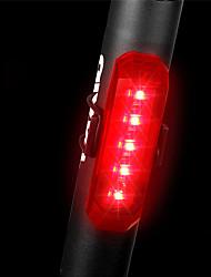 baratos -Luz Traseira Para Bicicleta LED Luzes de Bicicleta Ciclismo Impermeável, Libertação Rápida, Leve Bateria Li-on Recarregável 80 lm Vermelho Polícia / Militar / Ciclismo