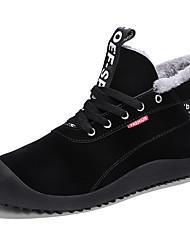 Недорогие -Муж. Зимние сапоги Замша Зима На каждый день Ботинки Сохраняет тепло Ботинки Черный / Темно-синий / Серый