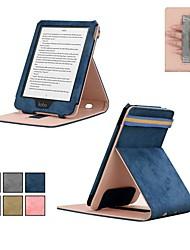 abordables -Coque Pour KOBO kobo clara HD Avec Support / Clapet Coque Intégrale Couleur Pleine Dur Textile pour kobo clara HD
