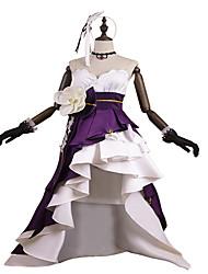 Недорогие -Вдохновлен PrettyCure Принцесса Аниме Косплэй костюмы Косплей Костюмы / Платья Мода Без рукавов Перчатки / Пояс / Резинка для волос Назначение Жен.