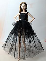Недорогие -Вечеринка Платья Для Barbiedoll Полиэстер Платье Для Девичий игрушки куклы