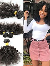 tanie -3 zestawy Włosy brazylijskie Afro Kinky Kinky Curl 10A Włosy naturalne remy Doczepy z naturalnych włosów 8-26 in Natutalne Ludzkie włosy wyplata Najwyższa jakość Nowości Gorąca wyprzedaż Ludzkich