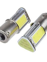 Недорогие -2pcs p21w bay15d ba15s p21 / 5w 1156 led cob автоматический тормоз свет белый цвет машина светодиодные лампы задний указатель поворота лампа парковка dc12v