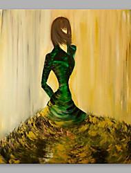 billige -Hang-Painted Oliemaleri Hånd malede - Mennesker Moderne Lærred