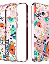 billige -Etui Til Samsung Galaxy S8 Plus Stødsikker / Belægning / Mønster Bagcover Frugt / Blomst Hårdt TPU / PC for S8 Plus