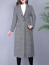 Недорогие -длинное шерстяное пальто женщин - houndstooth
