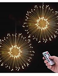Недорогие -KWB 3.3m Гирлянды 150 светодиоды 1 пульт дистанционного управления Keys Тёплый белый Водонепроницаемый / Новый дизайн / Декоративная Аккумуляторы 2pcs