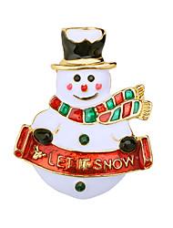 billiga -Dam Kubisk Zirkoniumoxid Klassisk Broscher - Tomtekostymer, Snöflinga Klassisk, Tecknat, söt stil Brosch Vit Till Jul / Dagligen