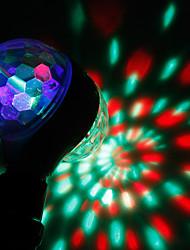 abordables -brelong e27 rgb étape magique double tête rotation lumière ac85-265v 1 pc