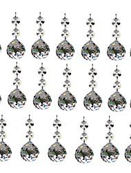Недорогие -20шт 30мм хрусталь шарик канделябры призмы подвески части бисер