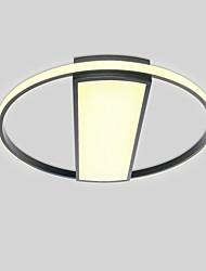 abordables -2 lumières Circulaire / Nouveauté Montage du flux Lumière d'ambiance Finitions Peintes Métal Mat, Protection des Yeux, Mignon 110-120V / 220-240V Blanc Crème / Blanc Neige / Dimmable avec télécommande