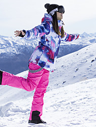 Недорогие -ARCTIC QUEEN Жен. Лыжная куртка и брюки С защитой от ветра, Теплый, Лыжные очки Катание на лыжах / Отдых и Туризм / Сноубординг Полиэфир, Экологичность Полиэстер Брюки / Снегурочка / Верхняя часть