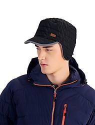 abordables -VEPEAL Casquette de Randonnée Chapeau Pare-vent Garder au chaud Hiver Noir Unisexe Pêche Randonnée Sports d'hiver Tartan Adulte