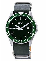 Недорогие -Муж. Спортивные часы Японский Японский кварц 30 m Календарь Крупный циферблат PU Группа Аналого-цифровые На каждый день Мода Черный / Коричневый / Жад - Черный Коричневый Темно-зеленый / Один год