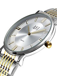 baratos -ASJ Mulheres Relógio Elegante Japanês Quartzo Japonês Prata / Dourada Relógio Casual Analógico senhoras Casual Elegante - Prata Ouro / Branco Um ano Ciclo de Vida da Bateria / SSUO AG4
