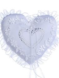 Недорогие -Ткань Демин Искусственный жемчуг / Бант / Кружева Текстиль Кольцо подушки колец Свадьба / Сердце Все сезоны