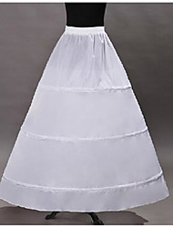 Недорогие -Классика Лолита органза Жен. Нижняя юбка Косплей Белый В пол Длинный костюмы
