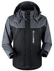 Недорогие -Муж. Ветровка для туризма и прогулок Мягкая пиджак на открытом воздухе Осень Зима С защитой от ветра Дожденепроницаемый Воздухопроницаемость Пригодно для носки 100% полиэстер Бархат Зимняя куртка