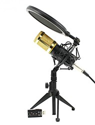 baratos -KEBTYVOR BM800 PC / Com Fio Microfone Microfone Microfone Condensador Microfone Portátil Para Microfone de Computador